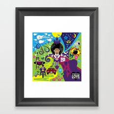 The Emoji-fication of His Purple Majesty: The Full Story Framed Art Print