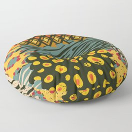 Colorful African Animal Pattern Floor Pillow