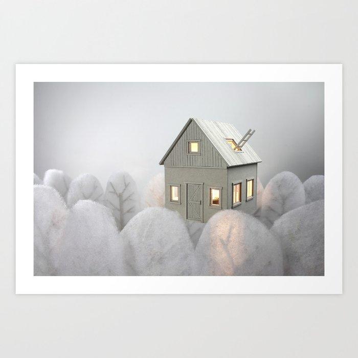 Floating House Art Print