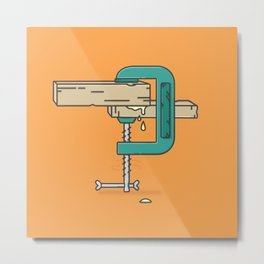Clamp stamp Metal Print