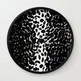 Animal Print Cheetah Love Black and White #2 Collection Wall Clock