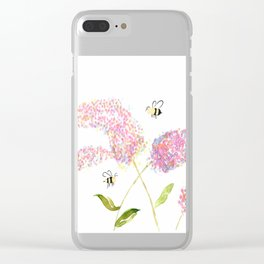 Of Buddleias & Bumble Bees Clear iPhone Case
