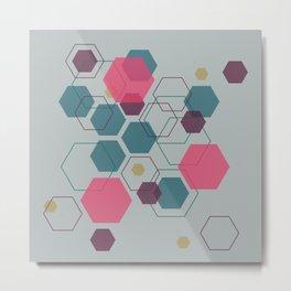 Hexagon Jewel Metal Print