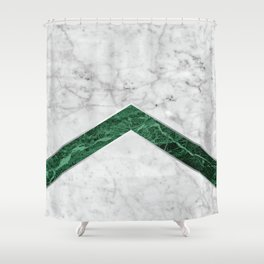 Arrows - White Marble & Green Granite #849 Shower Curtain