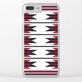 American Native Pattern No. 289 Clear iPhone Case