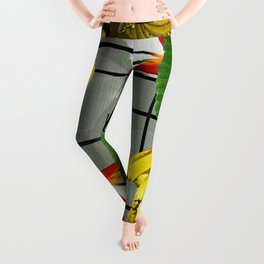 Tropical Squares Leggings
