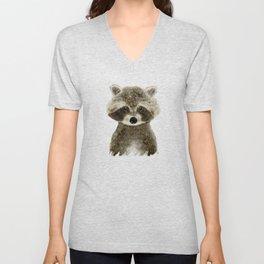 little raccoon Unisex V-Neck