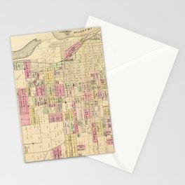 Vintage Map of Omaha Nebraska (1885) Stationery Cards