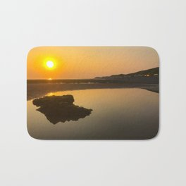 beautiful braystone beach sunset Bath Mat