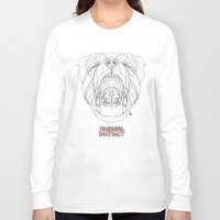 rottweiler Long Sleeve T-shirts featuring Rottweiler (Animal Instinct Series) by AP Illustration
