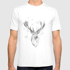 Frankly Deer Mens Fitted Tee White MEDIUM