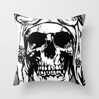 kindle Throw Pillows featuring 101 by ALLSKULL.NET