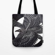 Moonlight Raven Tote Bag