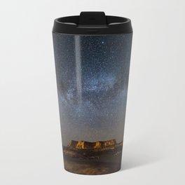 Across the Universe - Milky Way Galaxy Above Mesa in Arizona Travel Mug