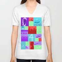 divergent V-neck T-shirts featuring Divergent Collage by anthony m sennett