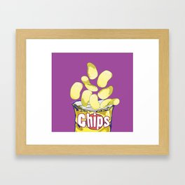 Potato Chips : Junkies Collection Framed Art Print