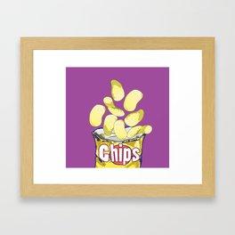 Potato Chips : Junkies Collection Framed Art Print