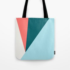Blue Red Triangles Tote Bag