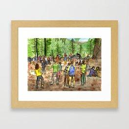 Manali Rave Trance Party india Framed Art Print