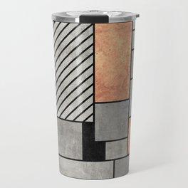 Random Pattern - Concrete and Copper Travel Mug
