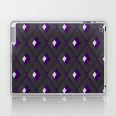 Geometric Pattern - Purple & Dark Gray Laptop & iPad Skin