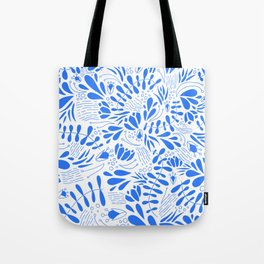 Flora in Blue Tote Bag