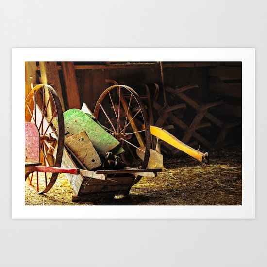 Vintage farm hand cart Art Print