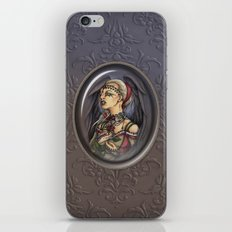 Marooned - Gothic Angel Portrait iPhone & iPod Skin