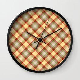 Scottish tartan #1 Wall Clock