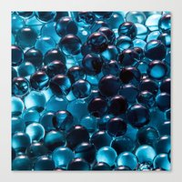 bubbles Canvas Prints featuring Bubbles by Kristina Jovanova
