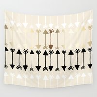 arrows Wall Tapestries featuring Arrows by Tangerine-Tane