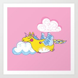 Happy Little Unicorn Art Print
