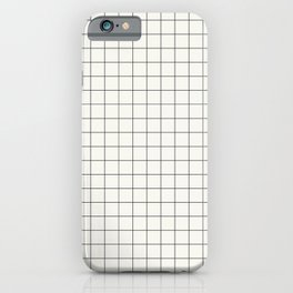 Black Grid on White iPhone Case
