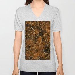 Mosaic LORA,warm brown Unisex V-Neck