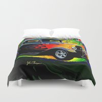 ford Duvet Covers featuring 32 Ford by JT Digital Art