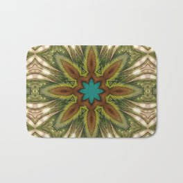 Geometric Feather Star Bath Mat