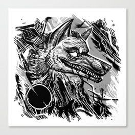 Wolfy smile Canvas Print