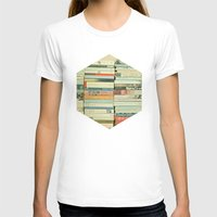 lovers T-shirts featuring Bookworm by Cassia Beck