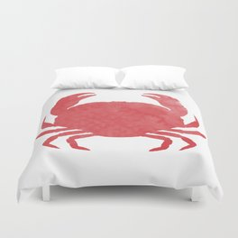 Watercolor Crab Duvet Cover