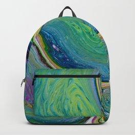Vivid Green Swirl Abstract Backpack