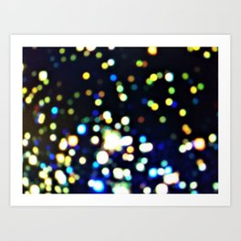 Twinkly starry night texture Art Print