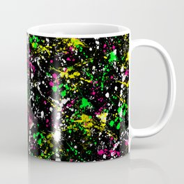paint drop design - abstract spray paint drops 3 Coffee Mug