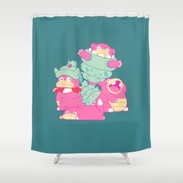 Slow Your Role Shower Curtain