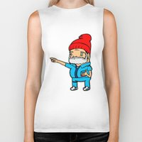 zissou Biker Tanks featuring Zissou by kaylieghkartoons