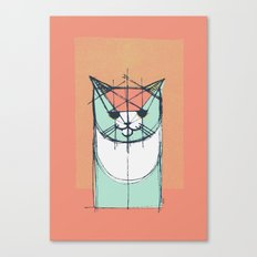 Cubist Cat Study #8 by Friztin Canvas Print