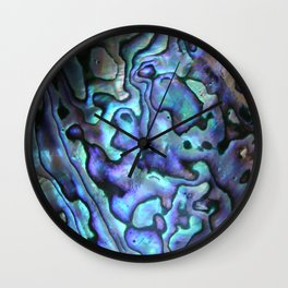 Deep Purple Abalone Shell Wall Clock