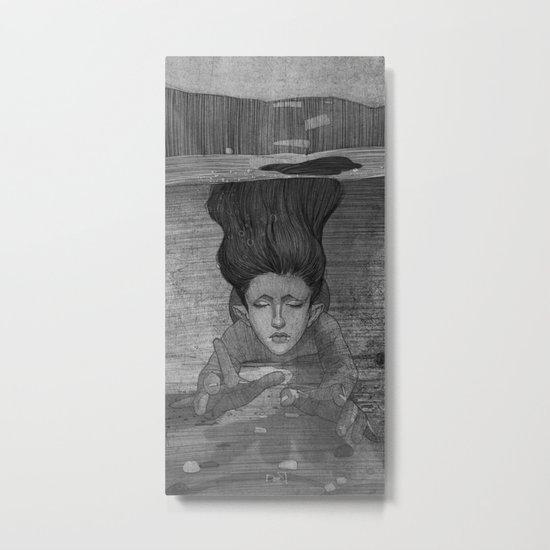 Sea Lady illustration Metal Print
