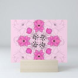 Pink Flowers Mini Art Print