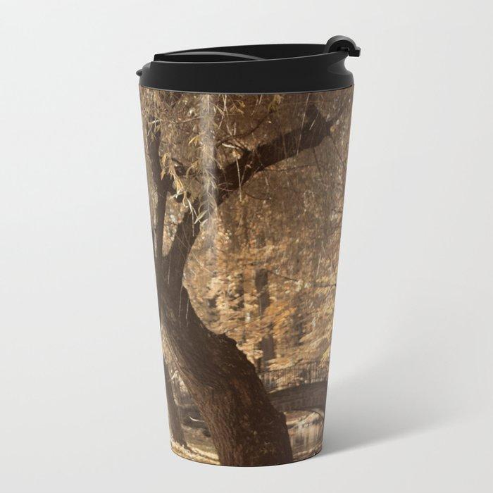 Golden branches Metal Travel Mug