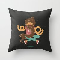 zen Throw Pillows featuring Zen by carvalhostuff